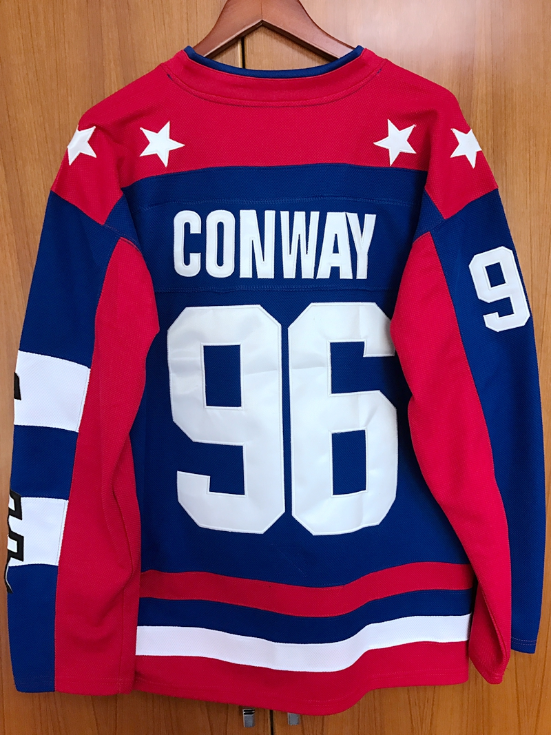 3269a8629 Mighty Ducks D2 Movie Team USA Hockey Jersey  96 Charlie Conway ...