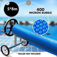 Solar Swimming Pool Cover Outdoor Bubble Roller Blanket Heater 5*8m