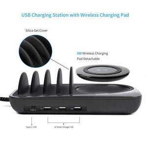 Image 2 - SooPii escritorio 4 puertos cargador estación soporte Universal con carga USB para el teléfono estación para iPhone Samsung iPad Tablet