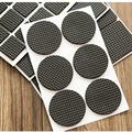 Round Multifunction Black Self Adhesive Furniture Leg Table Sofa Feet Floor Non-slip Mat Sticky Pad Protector 1Set=48pcs