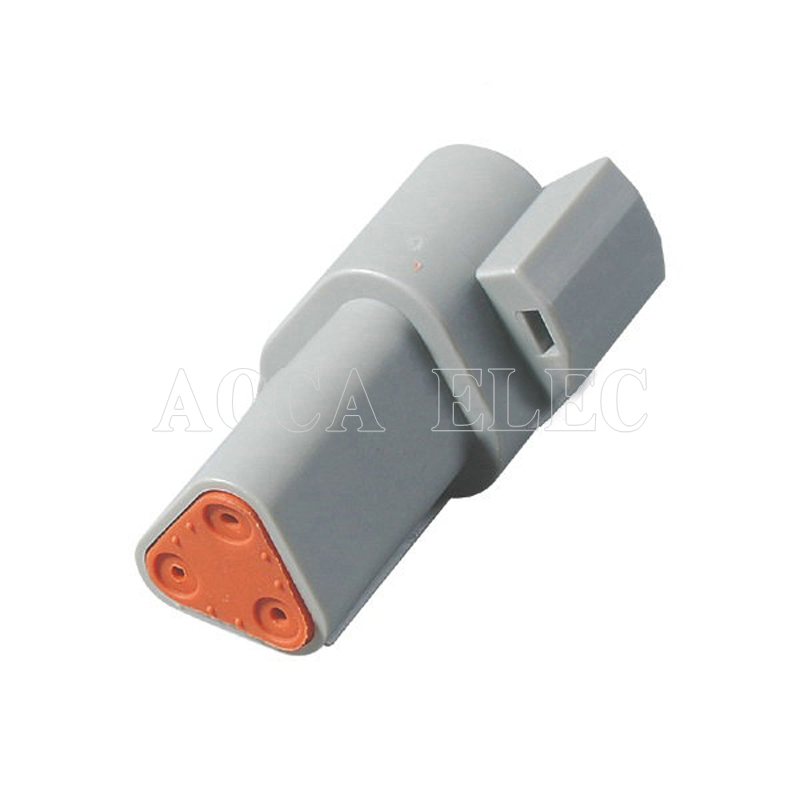 car wire connector ecu male female wire connector fuse wire plug connector automotive wiring 3 pin terminal socket DT06 03S