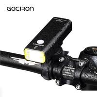 GACIRON Waterproof LED Bicycle Headlight USB Rechargeable Bike Handlebar Flashlight Outdoor Mini Aluminum Cycling Lamp 400