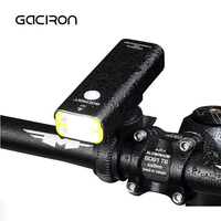 GACIRON Waterproof LED Bicycle Headlight USB Rechargeable Bike Handlebar Flashlight Outdoor Mini Aluminum Cycling Lamp 400