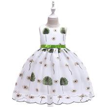 2019 Kids Tutu Birthday Princess Party Dress for Girls Infant Lace Children Bridesmaid Elegant Clothes