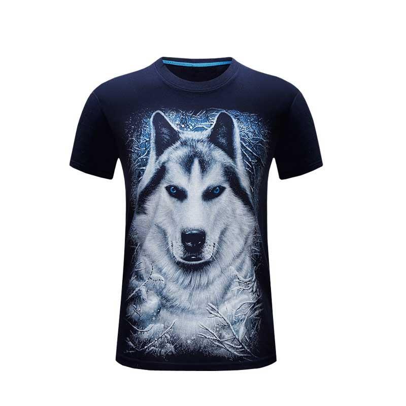 Sommer mænd hvid t-shirt løve trykt 3d tshirt homme casual hipster - Herretøj - Foto 5