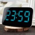 LED Controle de Voz Despertador Grande Display LED Backlinght Snooze Desktop Eletrônico Digital Relógios de Mesa Relógio
