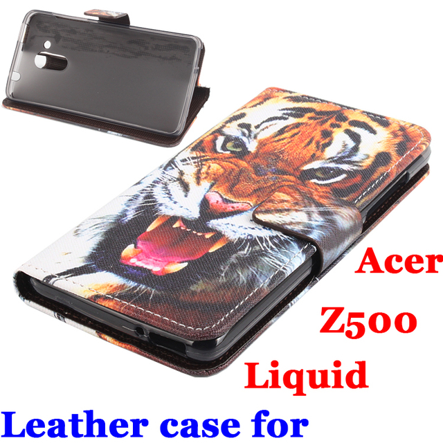 new arrival 6605b 8dba8 US $7.99 |Tiger Painted For Acer Liquid Z500 Case Luxury Leather Transverse  Flip Covers For Acer Z500 Phone Shell Z500 Cover In Stock-in Flip Cases ...
