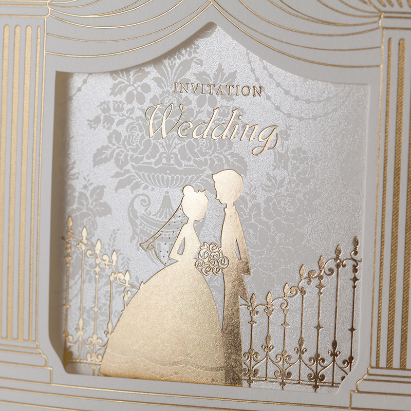 100 pcs fashion wedding invitation cards gold foiling frame church 100 pcs fashion wedding invitation cards gold foiling frame church style invitation cards suppliers printable customize free in cards invitations from stopboris Image collections