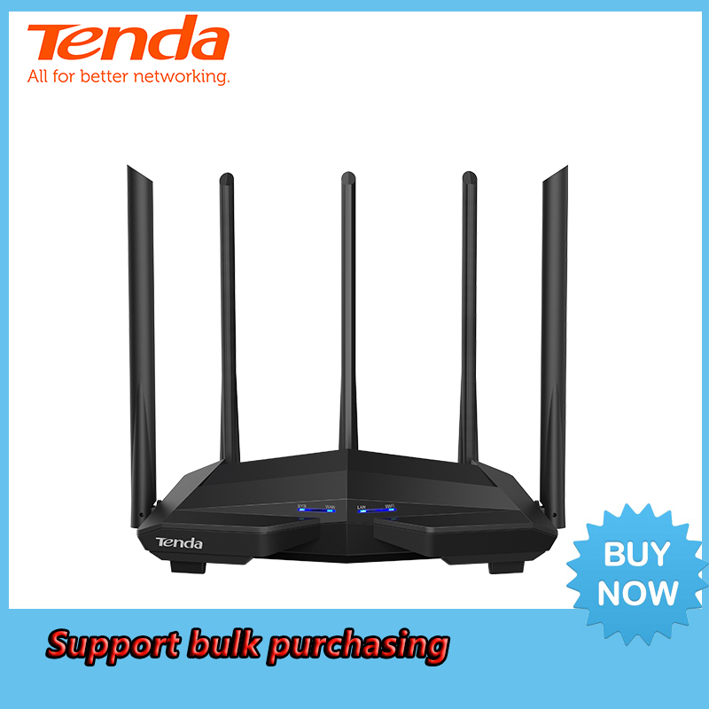 <font><b>Tenda</b></font> Wireless AC1200 WiFi Router with 2.4G/5.0G High Gain Antenna Home Coverage Dual Band Wireless Router,App Control image
