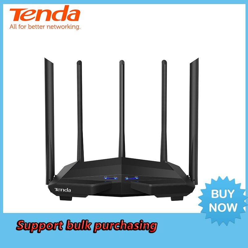 Routeur sans fil de WiFi de Tenda AC11 AC1200M avec l'antenne 2.4G/5.0G à Gain élevé couverture à la maison routeur sans fil de double bande, contrôle d'app