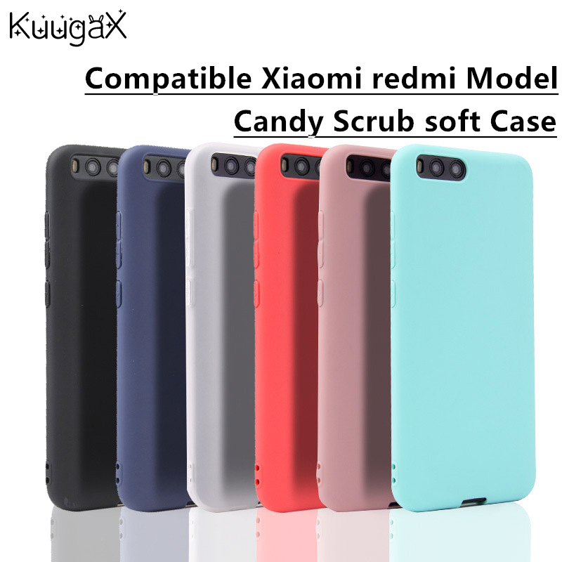 KuugaX Matte Candy Silicone Case For xiaomi 6 6X A1 5X Max 2 Redmi 4X 4A 4 pro 5 plus 5A Note5A Note4x Note 4 Soft TPU Cover bag in Half wrapped Cases from Cellphones Telecommunications
