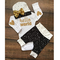 Baby's Sets Baby Clothing Clothes Newborn Baby Cotton Romper Romper Pants Hat Three-piece