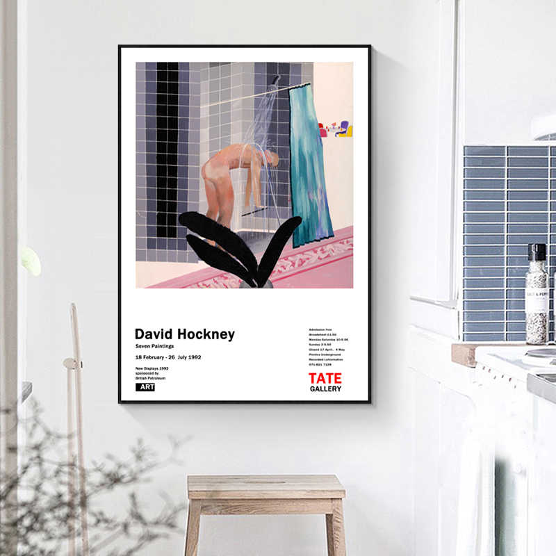 Abstract David Hockney Oil Paintings Canvas Poster Canvas Giclee Classic Artwork for Living Room Bedroom Decor Picture pop