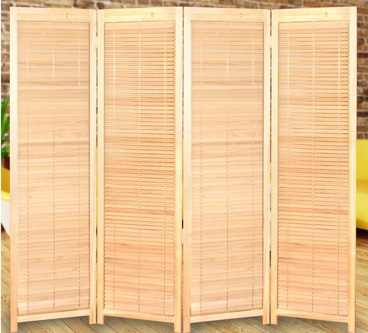 US $358.0 |Oosterse Stijl 4 Panel Kamerscherm Scheidingswand Partitie Decoratieve Draagbare Aziatische Japan Meubels Houten Kamerscherm in Schermen &