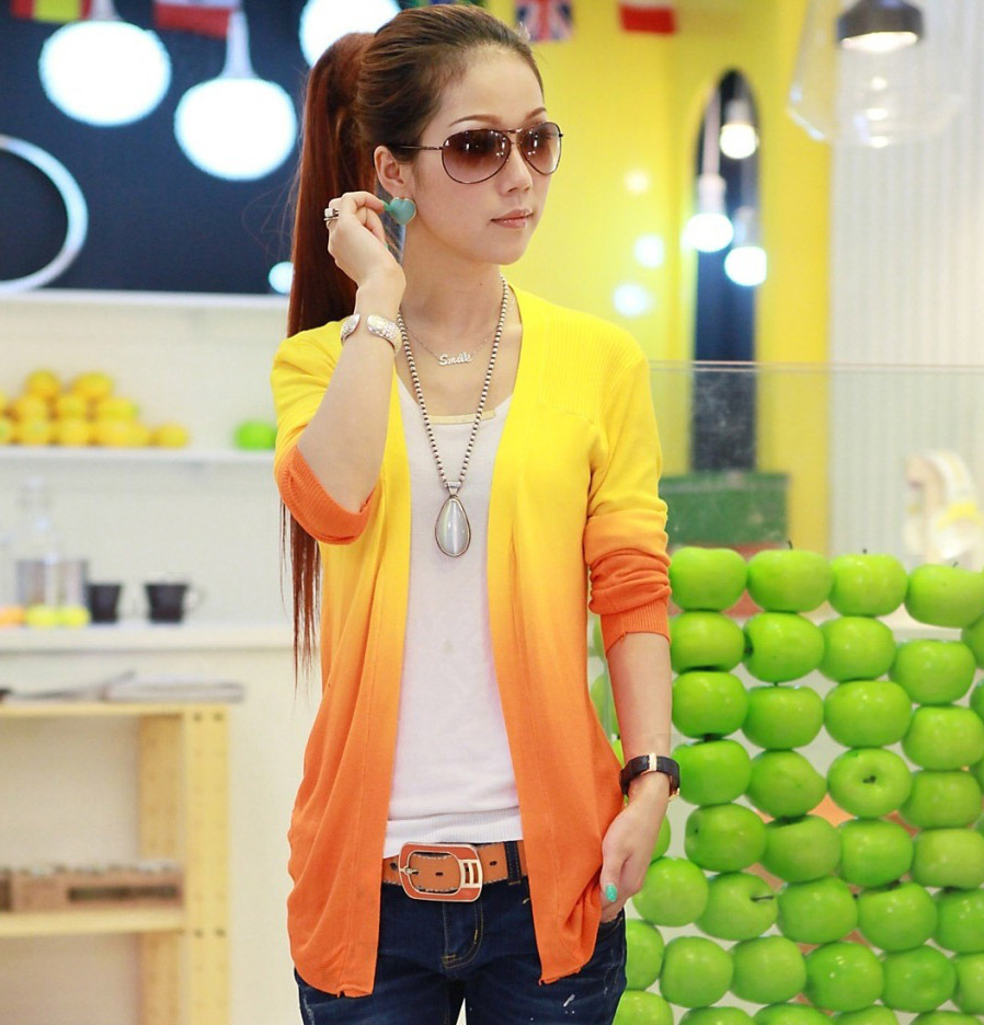 New Spring Sweet Candy Color Knit Shirt Women Wild Slim Sweaters Cardigans Show Thin Lady Knitted Cardigan tops Women G1075