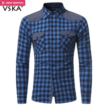 New Fashion Classic Plaid Shirts 2 Pockets Design Men Casual Shirts Long Sleeve Turn-down Collar Shirt Male Chemise Homme girls plaid blouse 2019 spring autumn turn down collar teenager shirts cotton shirts casual clothes child kids long sleeve 4 13t
