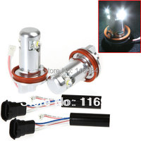 2pcs White 6W H8 Car LED Light Angel Eye Halo Ring Lamp Bulb For BMW E92