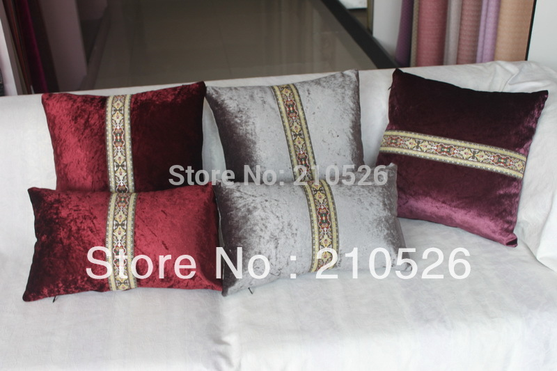 free shipping 45*45cm or 30*50cm luxury home decoration velvet antique Sofa throw Cushion Pillow with filling