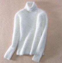 Camisola de gola alta feminina 2020 outono inverno branco mohair pullover sweter feminino puxar femme hiver streetwear camisola jumper