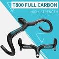 TOSEEK полностью углеродное волокно  руль для велосипеда  руль для шоссейного велосипеда  стержень  изогнутый  400/420/440 мм  детали для велосипеда
