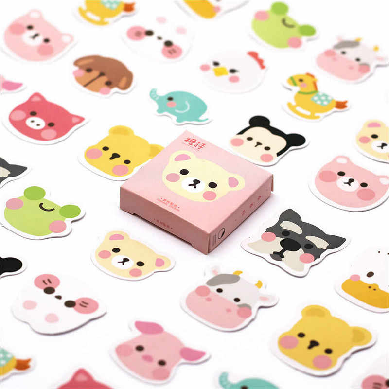 40 PCS Leisure Time Sticker Animal Decals Stickers Gifts for Children to Laptop Suitcase Guitar Fridge Bicycle Car