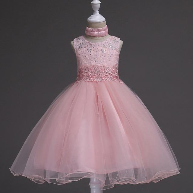 e653f16dfc Princesa flor vestido de niña de Verano 2017 fiesta de cumpleaños de la boda  Vestidos para