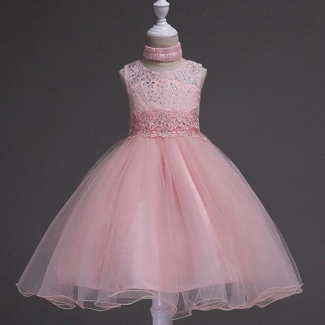1a8a6965a € 14.75 5% de DESCUENTO Vestido de princesa flor niña Verano 2017 vestidos  de fiesta de cumpleaños de boda para niñas traje de graduación para 6 ...