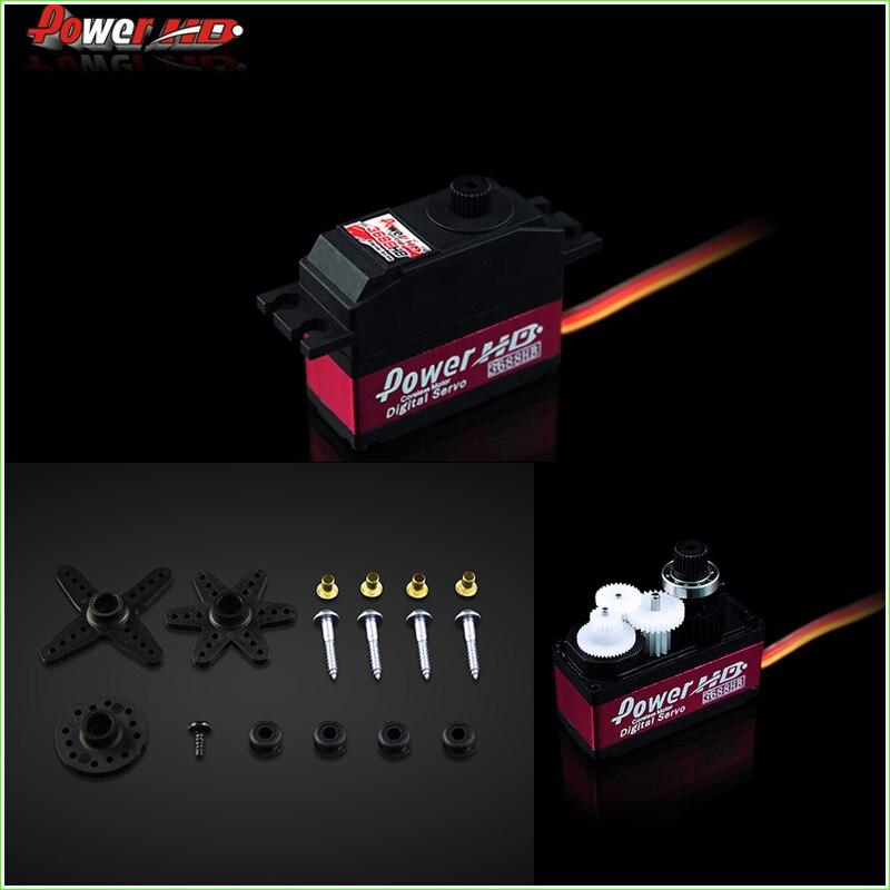 все цены на 1Pcs 100% original 450 Helicopter Lock tail digital servo Power HD HD-3688HB servo vs S9257/DS520 онлайн