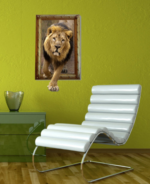 Removable A Lion Decoration Wall Stickers Home Decor Modern Animal For Decals