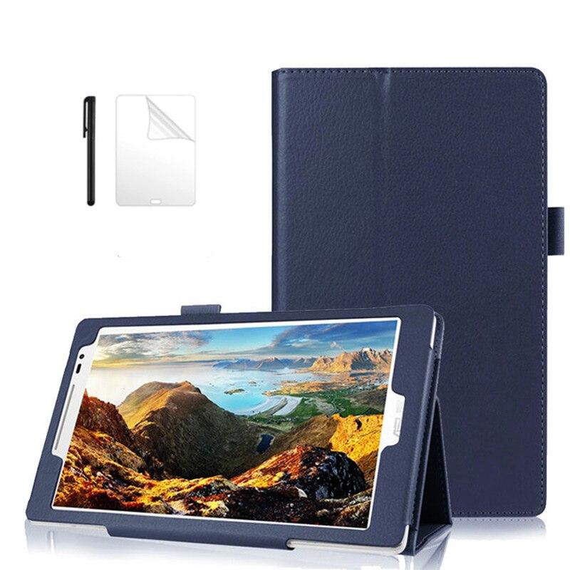 Чехол-книжка из искусственной кожи для ASUS Zenpad 8,0 Z380 Z380KL Z380C 8,0 дюймов смарт-чехол-подставка для ASUS Zenpad 8,0 чехол для планшета + flim + ручка