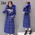 Украина мех пальто женщин с капюшоном карман вниз хлопок лайнер парки роскошные зима 4XL плюс размер долго фугу пальто
