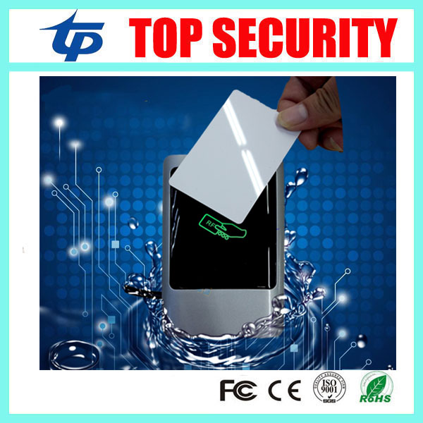 IP68 waterproof 13.56MHZ IC MF card door access control card reader wegand26 and 34 smart card reader for access control system zk 13 56mhz ic card mf card door access control card reader with wiegand34 ip65 waterproof smart card reader with two led light