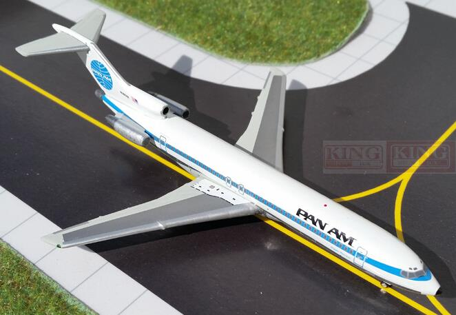 GeminiJets GJPAA1308 Pan American Airlines B727-200 1:400 commercial jetliners plane model hobby gjcca1366 b777 300er china international aviation b 2086 1 400 geminijets commercial jetliners plane model hobby