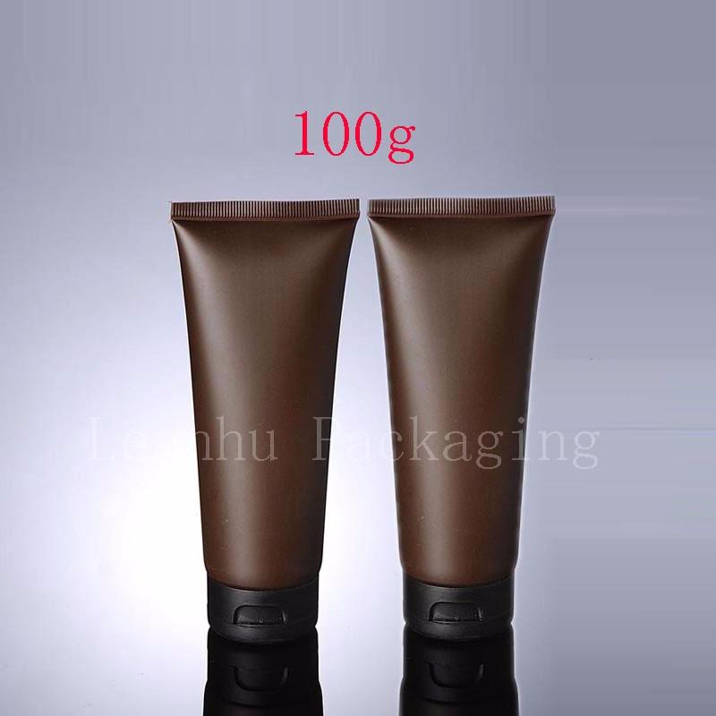 100g brown tube with flip top cap (1)