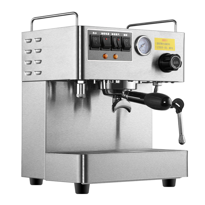 Automatic Espresso Coffee Machine 220V Stainless Steel Material Coffee Maker Good quality Commercial Office Coffee Machine