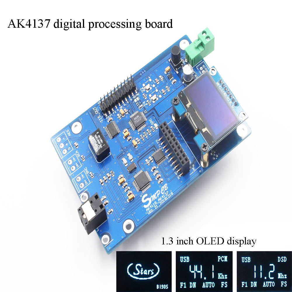 AK4137 DAC SRC Audio 384K 32Bit DSD256 DSD IIS Conversion For Hifi Amplifier With Remote Control