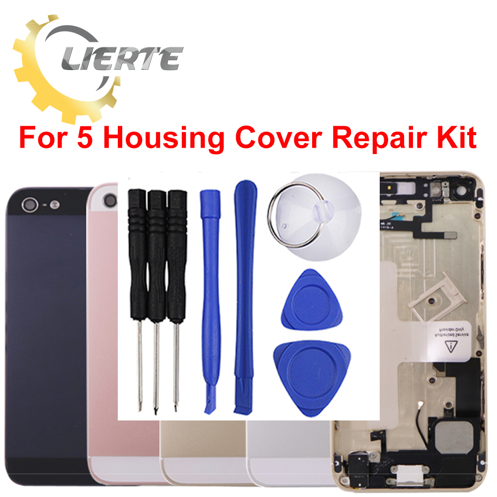 Torx Screwdriver Repair For IPhone 5 5G Frame Bezel Chassis Back Full Housing Battery Door Rear Cover Body With Flex Cable ia73 original chassis middle housing frame for iphone 4 silver