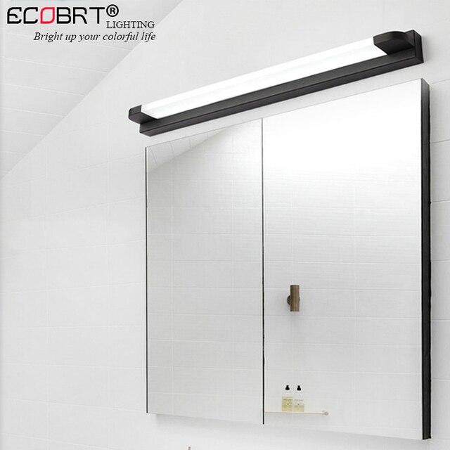 ECOBRT Modern Mirror Light led Bathroom Vanity Wall Lamp Makeup Dressing Table Mirror Cabinet lamp Black/White Color