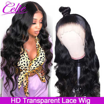 Celie HD Transparent Lace Wig Glueless Lace Front Human Hair Wigs Brazilian Body Wave 150 180 250 Density Lace Wig Pre Plucked - DISCOUNT ITEM  60% OFF All Category