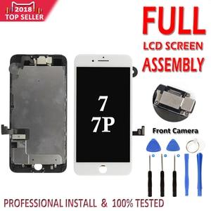 Image 1 - LCD Conjunto completo para o iphone 7G 7 Plus LCD Display Touch Screen Digitador Assembléia Completa Substituição Câmera Frontal Não botão Home