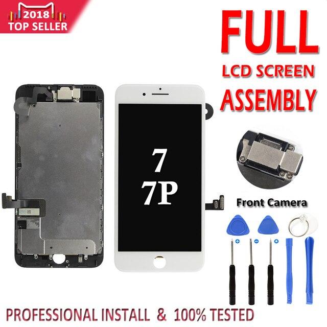 LCD Conjunto completo para o iphone 7G 7 Plus LCD Display Touch Screen Digitador Assembléia Completa Substituição Câmera Frontal Não botão Home