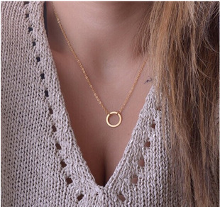 Round Necklace United-States Jewelry Wholesale Personality Europe Simple And The
