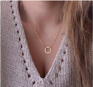 Europe and the United States fashion jewelry simple personality round necklace jewelry wholesale