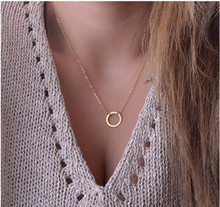 Europe and the United States fashion jewelry simple personality round necklace jewelry wholesale(China)
