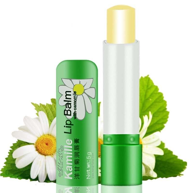 Hot Sale 1 Pcs 5g Natural Chamomile Women's Lipstick Deep Moisturizing Protection Lips Lip Balm Beauty Makeup Long Lasting