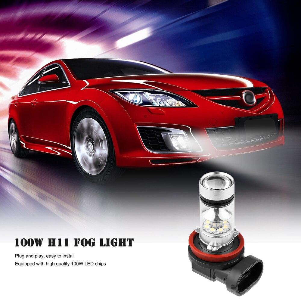 Simple car sticker design - 2pcs H11 100w Auto Car Led Fog Light Headlight Bul