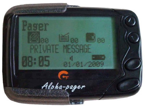 Text Message Pager, Wireless Paging System Receiver