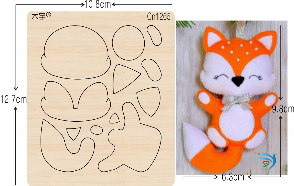 Yellow Fox new wooden mould cutting dies for scrapbooking Thickness 15 8mm