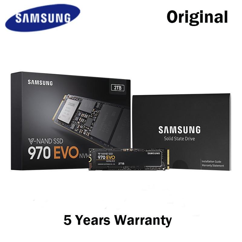 Samsung NVME M.2 SSD M2 250 GB 500 GB 1TB M.2 970 EVO Solid State Drives Disk for Laptops Drevo SSD 500GB 1 TB M . 2 PCIE SSD