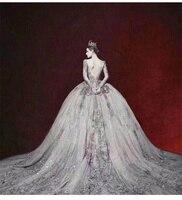 Платье невесты Ретро Фея для женщин с длинным рукавом свадебное платье знаменитости Элегантный официальные Длинные платья изящные вечерни